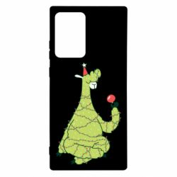 Чехол для Samsung Note 20 Ultra Green llama with a garland