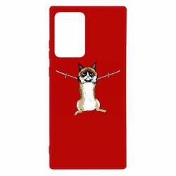 Чехол для Samsung Note 20 Ultra Grumpy Cat On The Rope