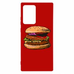 Чехол для Samsung Note 20 Ultra Hamburger hand drawn vector