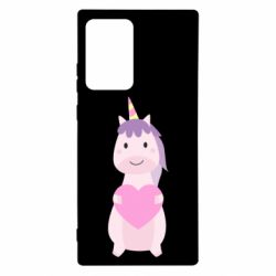 Чехол для Samsung Note 20 Ultra Happy unicorn with a heart