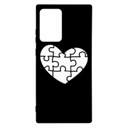 Чехол для Samsung Note 20 Ultra Heart and puzzle
