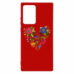 Чехол для Samsung Note 20 Ultra Heart made of flowers vector
