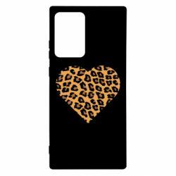 Чехол для Samsung Note 20 Ultra Heart with leopard hair