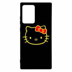 Чехол для Samsung Note 20 Ultra Hello Kitty logo