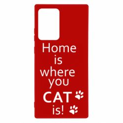 Чехол для Samsung Note 20 Ultra Home is where your Cat is!