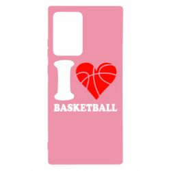 Чехол для Samsung Note 20 Ultra I love basketball