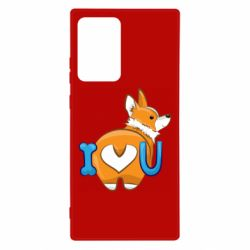 Чехол для Samsung Note 20 Ultra I love you corgi