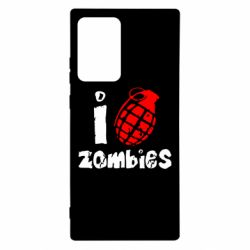 Чехол для Samsung Note 20 Ultra I love zombies
