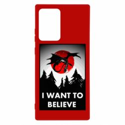 Чехол для Samsung Note 20 Ultra I want to BELIEVE poster