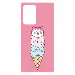 Чехол для Samsung Note 20 Ultra Ice cream kittens