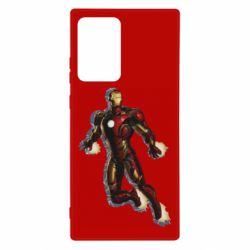 Чехол для Samsung Note 20 Ultra Iron man with the shadow of the lines
