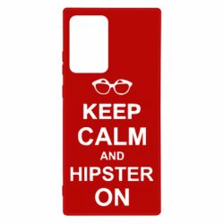 Чехол для Samsung Note 20 Ultra Keep calm an hipster on