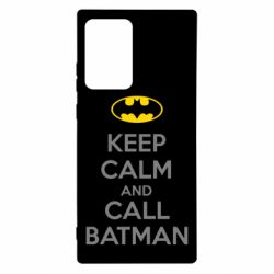 Чехол для Samsung Note 20 Ultra KEEP CALM and CALL BATMAN