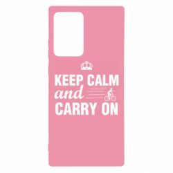 Чохол для Samsung Note 20 Ultra Keep calm and carry on text