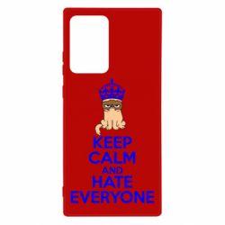 Чохол для Samsung Note 20 Ultra KEEP CALM and HATE EVERYONE