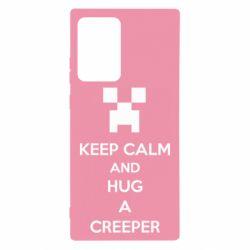 Чехол для Samsung Note 20 Ultra KEEP CALM and HUG A CREEPER