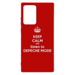 Чехол для Samsung Note 20 Ultra KEEP CALM and LISTEN to DEPECHE MODE