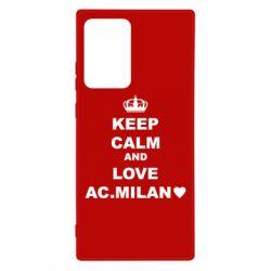 Чохол для Samsung Note 20 Ultra Keep calm and love AC Milan