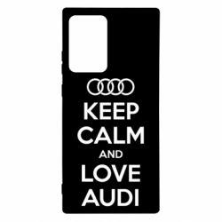 Чехол для Samsung Note 20 Ultra Keep Calm and Love Audi