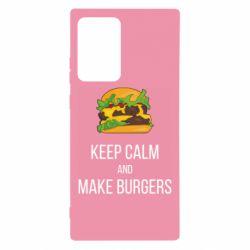 Чехол для Samsung Note 20 Ultra Keep calm and make burger