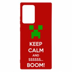 Чехол для Samsung Note 20 Ultra Keep calm and ssssssss...BOOM!