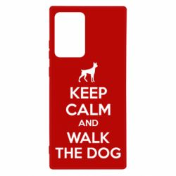 Чохол для Samsung Note 20 Ultra KEEP CALM and WALK THE DOG