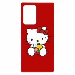 Чехол для Samsung Note 20 Ultra Kitty с букетиком