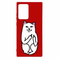 Чехол для Samsung Note 20 Ultra Кот с факом