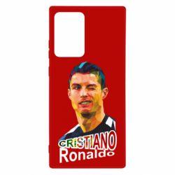 Чохол для Samsung Note 20 Ultra Крістіано Роналдо, полігональний портрет