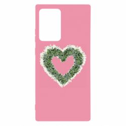 Чехол для Samsung Note 20 Ultra Lilies of the valley in the shape of a heart