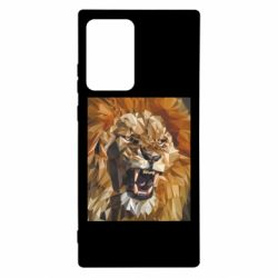 Чохол для Samsung Note 20 Ultra Lion roars low poly style