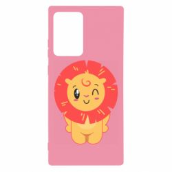 Чехол для Samsung Note 20 Ultra Lion with orange mane