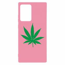 Чохол для Samsung Note 20 Ultra Листочок марихуани