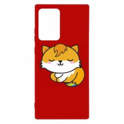 Чехол для Samsung Note 20 Ultra Little fox with tail