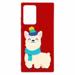 Чехол для Samsung Note 20 Ultra Llama in a blue hat