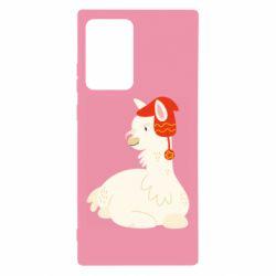 Чехол для Samsung Note 20 Ultra Llama in a red hat