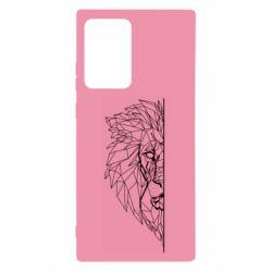 Чохол для Samsung Note 20 Ultra Low poly lion head
