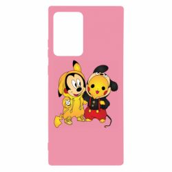 Чехол для Samsung Note 20 Ultra Mickey and Pikachu