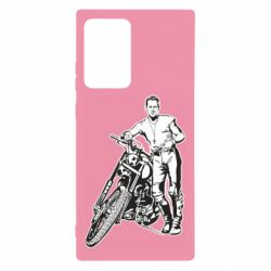Чехол для Samsung Note 20 Ultra Mickey Rourke and the motorcycle