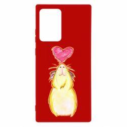 Чохол для Samsung Note 20 Ultra Морська свинка і сердечко