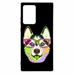 Чохол для Samsung Note 20 Ultra Multi-colored dog with glasses