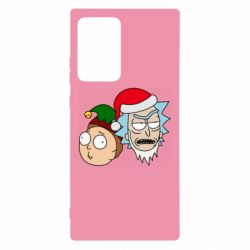Чехол для Samsung Note 20 Ultra New Year's Rick and Morty