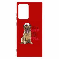 Чехол для Samsung Note 20 Ultra Nurse loves pugs