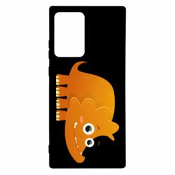 Чехол для Samsung Note 20 Ultra Orange dinosaur