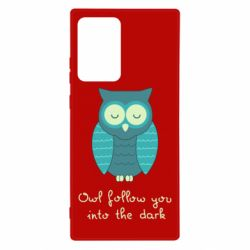 Чехол для Samsung Note 20 Ultra Owl follow you into the dark