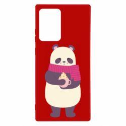 Чехол для Samsung Note 20 Ultra Panda and Cappuccino