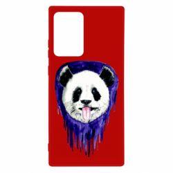 Чехол для Samsung Note 20 Ultra Panda on a watercolor stain