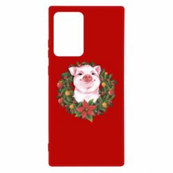 Чохол для Samsung Note 20 Ultra Pig with a Christmas wreath