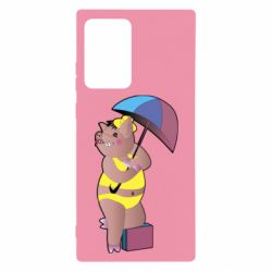 Чохол для Samsung Note 20 Ultra Pig with umbrella