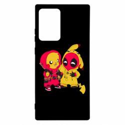 Чехол для Samsung Note 20 Ultra Pikachu and deadpool